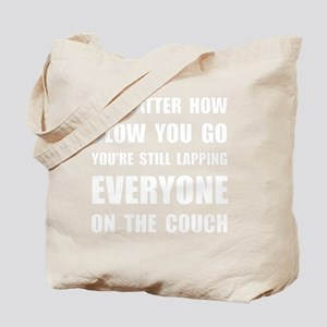 Lapping Everyone On Couch White Tote Bag