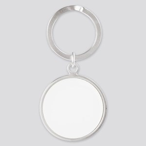 Lapping Everyone On Couch White Round Keychain