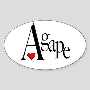 Agape Oval Sticker