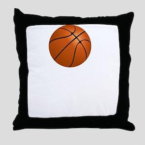Respect The Game Basketball White Throw Pillow