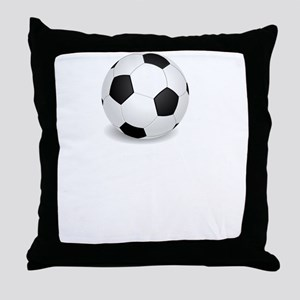Respect The Game Soccer White Throw Pillow
