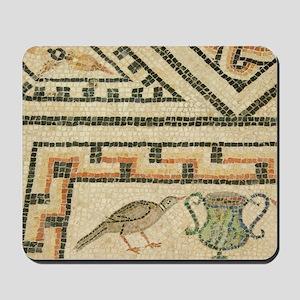 2nd century masterpiece Roman mosaic flo Mousepad