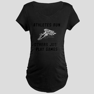 Athletes Run Black Maternity Dark T-Shirt