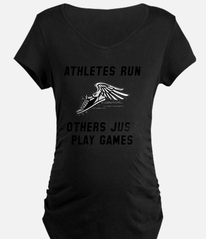 Athletes Run Black T-Shirt