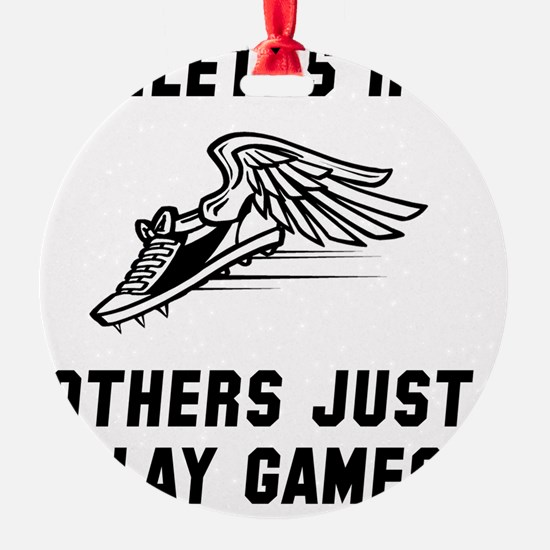 Athletes Run Black Ornament