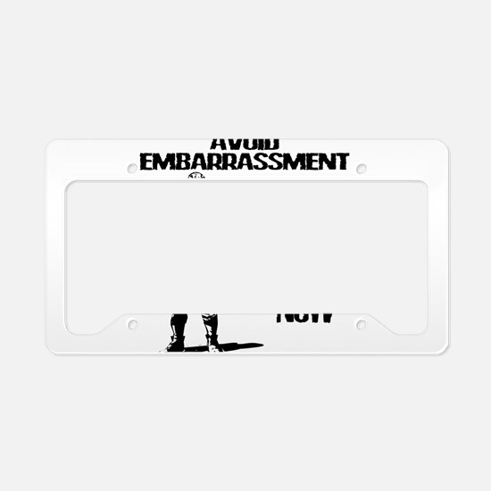 Lacrosse Defense Pass License Plate Holder