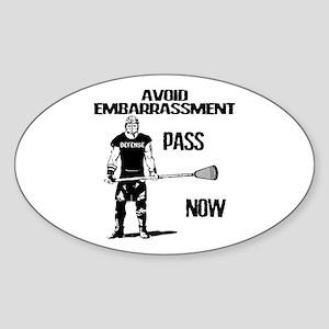 Lacrosse Defense Pass Sticker (Oval)