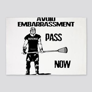 Lacrosse Defense Pass 5'x7'Area Rug