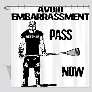 Lacrosse Defense Pass Shower Curtain