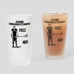 Lacrosse Defense Pass Drinking Glass