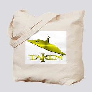 Taken by a UFO in Yellow Meta Tote Bag