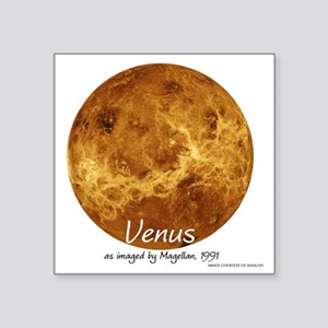 "Venus5-blackLetters copy Square Sticker 3"" x 3"""