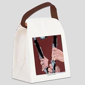 Clarinet Hands a Shirt Canvas Lunch Bag