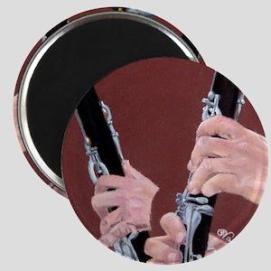 Clarinet Hands a Shirt Magnet