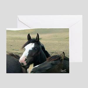 CP-calendar-BlueEyeBlack1 Greeting Card