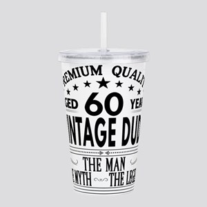 VINTAGE DUDE AGED 60 YEARS Acrylic Double-wall Tum