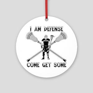 Lacrosse Defense GETSOME Ornament (Round)