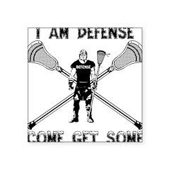 Lacrosse Defense GETSOME Square Sticker 3
