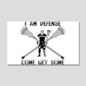 Lacrosse Defense GETSOME Car Magnet 20 x 12