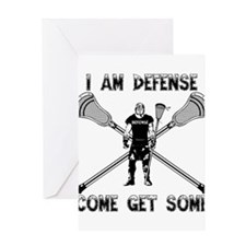 Lacrosse Defense GETSOME Greeting Card