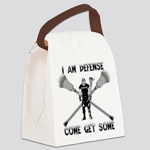 Lacrosse Defense GETSOME Canvas Lunch Bag