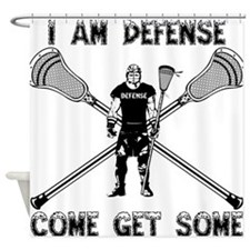 Lacrosse Defense GETSOME Shower Curtain