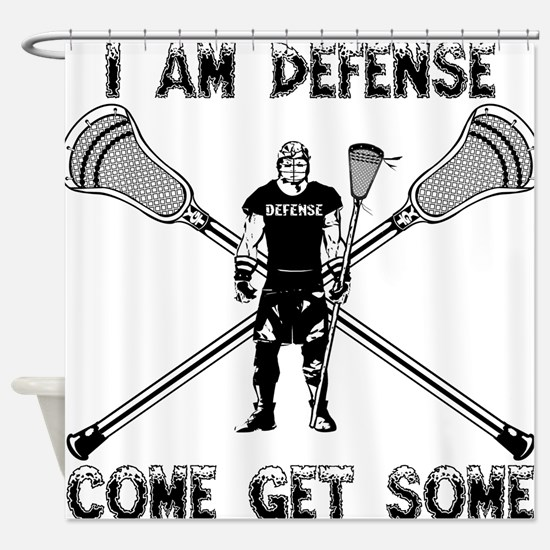 Lacrosse Defense GETSOME Shower Curtain