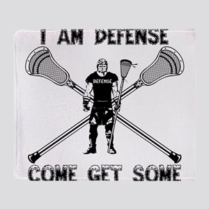 Lacrosse Defense GETSOME Throw Blanket