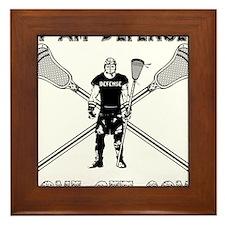 Lacrosse Defense GETSOME Framed Tile