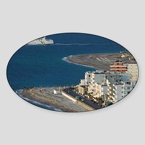 Rhodes Town: Rhodes New Town Hotel  Sticker (Oval)