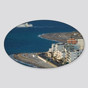 Rhodes Town: Rhodes New Town Hotel  Sticker (Oval)