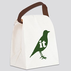 IT ON A BIRD - green Canvas Lunch Bag