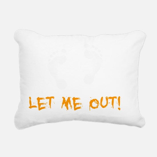 Feet Let Me Out -dk Rectangular Canvas Pillow