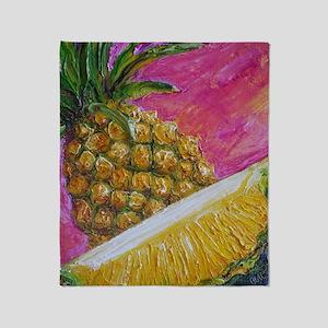 pineapple painting Throw Blanket
