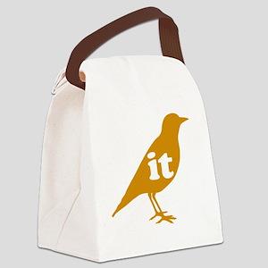 IT ON A BIRD - mustard Canvas Lunch Bag