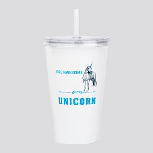 Unicorns Are Awesome Acrylic Double-wall Tumbler