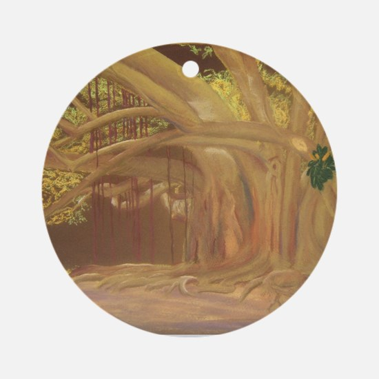 If Trees Could Talk.. a shirt Round Ornament