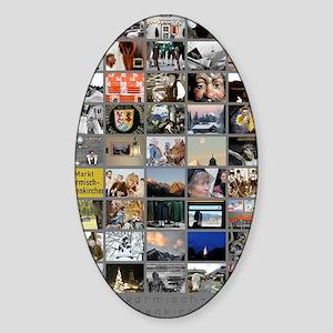 Portrait GAP large poster Sticker (Oval)