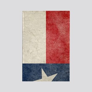 441 Tex Flag Faded Rectangle Magnet