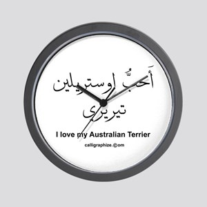 Australian Terrier Dog Wall Clock