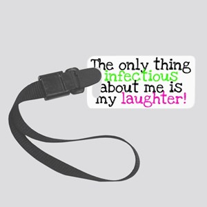 Infectious Laughter green/pink Small Luggage Tag