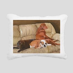 Three Dog Couch b shirt Rectangular Canvas Pillow