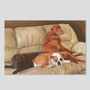 Three Dog Couch b shirt Postcards (Package of 8)