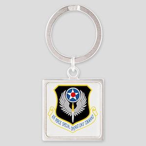 AFSOC USAF Square Keychain