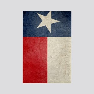 443 Tex Flag Faded Rectangle Magnet