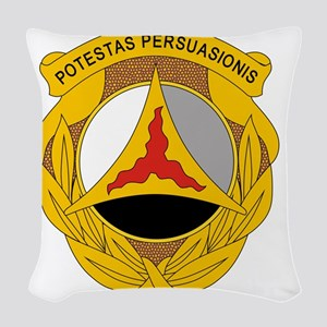 10th Psychological Operations Woven Throw Pillow
