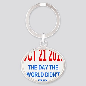 oct212011 we did not Oval Keychain