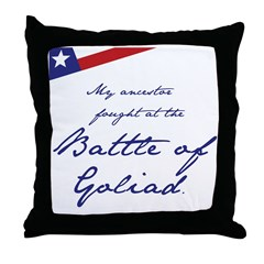 Battle of Goliad Throw Pillow