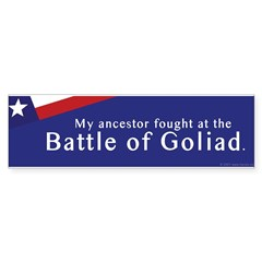 Battle of Goliad Bumper Bumper Sticker