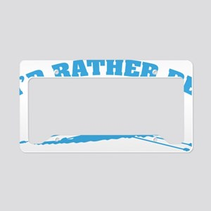 ratherbeRowing3 License Plate Holder
